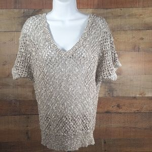 Ann Taylor Women's Beige Cotton Polyester Knit Swe